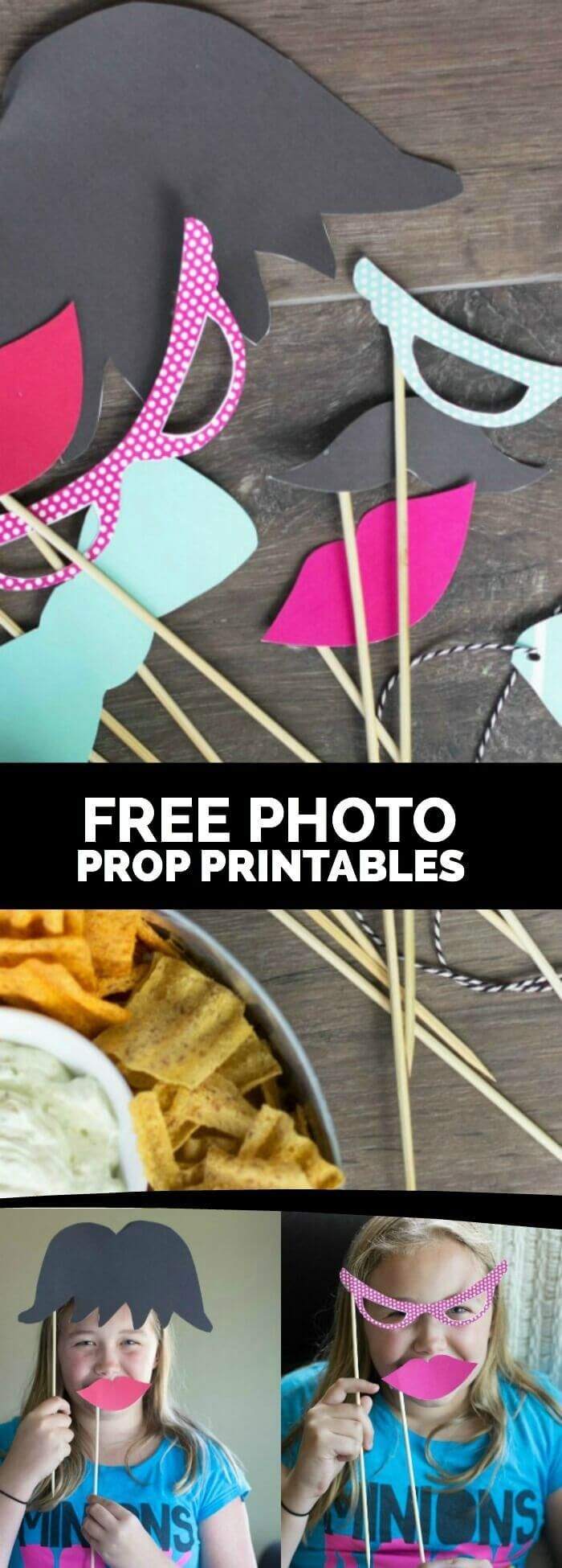 Free Photo Prop Printables + an awesome chip dip recipe!