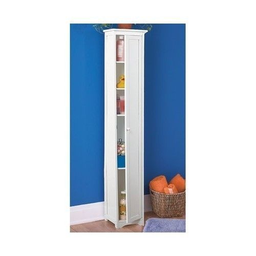 new slim space saver storage cabinet shelf home bathroom furniture