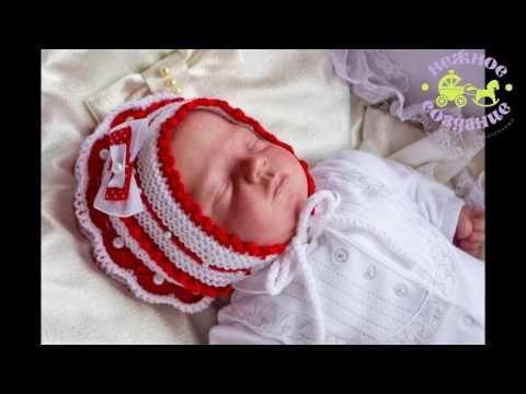 Пинетки шапочка для новорожденного видео