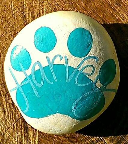 Pet Memorial, Painted Stones, Personalised, Pet Headstone, Pet Loss, Marker, Pet Remembrance, Tribute, Condolences, Sympathy, In Memory by TheLadySketch on Etsy https://www.etsy.com/listing/254941482/pet-memorial-painted-stones-personalised