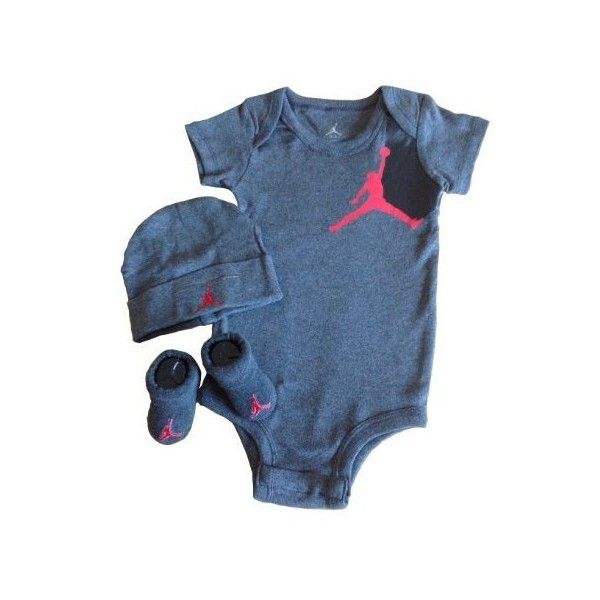Nike Jordan Infant Baby Layette Set and Cellphone Anti-dust Plug ($53) ❤ liked on Polyvore featuring baby, baby clothes, baby full outfits, baby girl and baby stuff