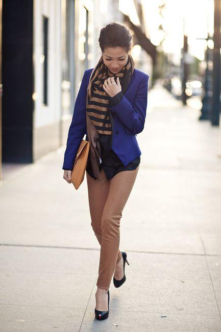 Honeycomb :: Black silk: Light Pink Blazers, Colors Pants, Colors Combos, Cobalt Blue, Outfit, Blue Blazers, Colors Combinations, Wendy Lookbook, Black Silk