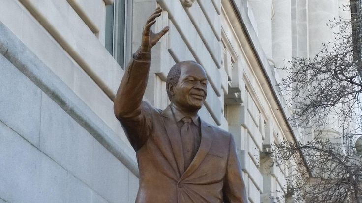 An 8-foot statue of former D.C. Mayor Marion Barry was unveiled Saturday, giving the 'Mayor for Life' a permanent legacy outside the seat of the city government.