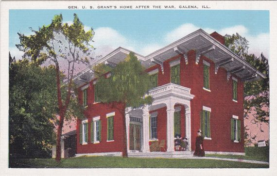 Galen Illinois General Grants House After by postcardsofthepast