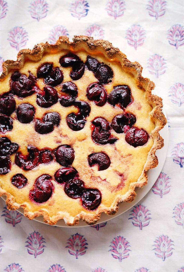 Cherry and Almond Tart from Lily Simpson and Rob Hobson's book The Detox Kitchen Bible. Find it at cooked.com