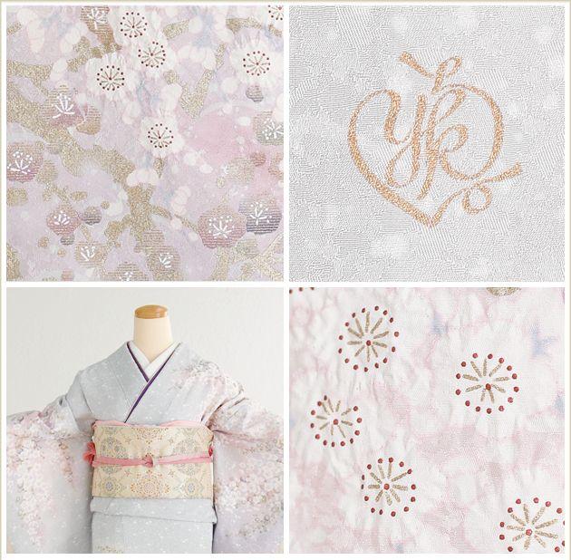 Yumi Katsura [Houmongi rental] [kimono rental] weeping plum hw1256 [full set] rental visiting dress / wedding kimono / shrine / costumer / mom / mother / mother / entrance ceremony / graduation ceremony / graduation ceremony / silk / weddings / seven hundred fifty-three / Yumi / 753 / kimono / ★ round trip free shipping ★