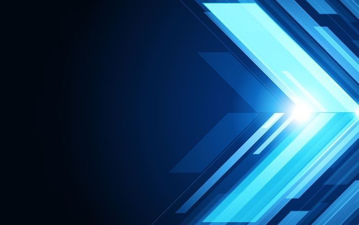 Download wallpapers arrows, lines, art, creative, blue background