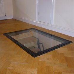 Clear View™ Glass Door: cellar access