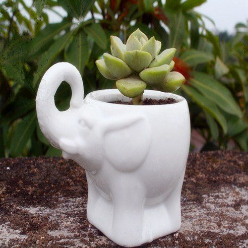 ceramic flower pots ceramic flower planter pot elephant design white 29963
