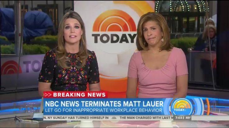 Programming Insider: 'Today' Anchors Savannah Guthrie and Hoda Kotb React to Matt Lauer Firing from NBC News