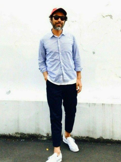 YosaKugino UNDERCOVERのスラックスを使ったコーディネート
