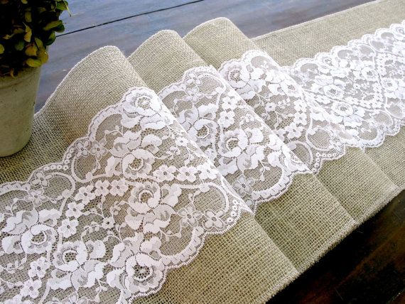Wedding table runner, 108X12 antique pastel pale pink rustic chic , romantic or vintage wedding , handmade in the USA, via Etsy