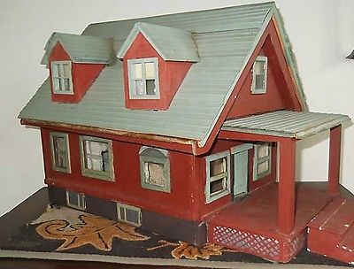 Antique Doll Houses for Sale | Charming & Sweet Antique Folk Art Handmade 1930's Doll House for sale
