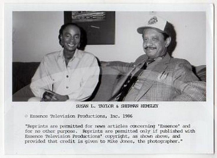 SHERMAN HEMSLEY SUSAN TAYLOR GEORGE JEFFERSON ACTOR VINTAGE PROMO PHOTO