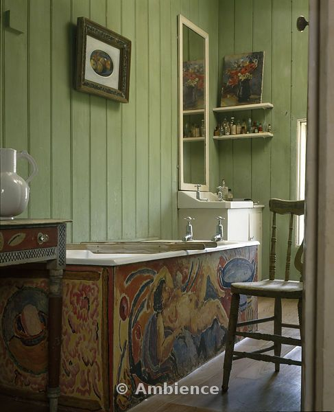The bathroom at Charleston House
