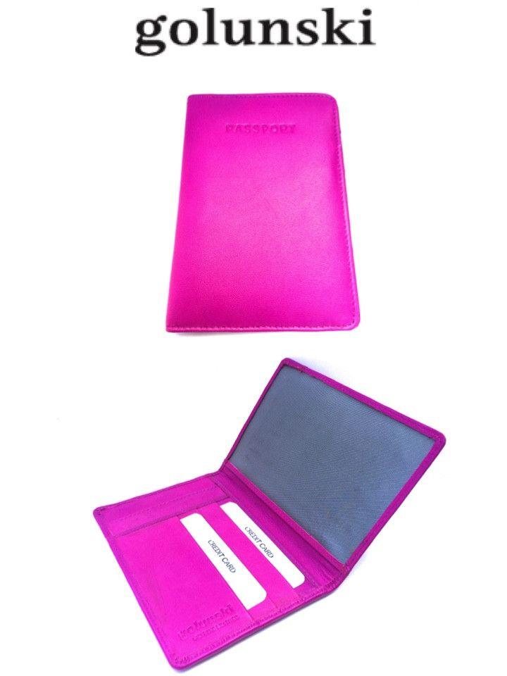 Style 1007: Leather Passport Holder By Golunski In Pink