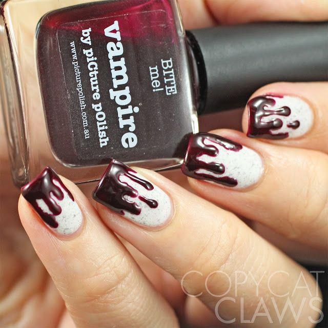 The 25 best drip nails ideas on pinterest diy drip nails copycat claws the digit al dozen does vampy drip nail art prinsesfo Choice Image