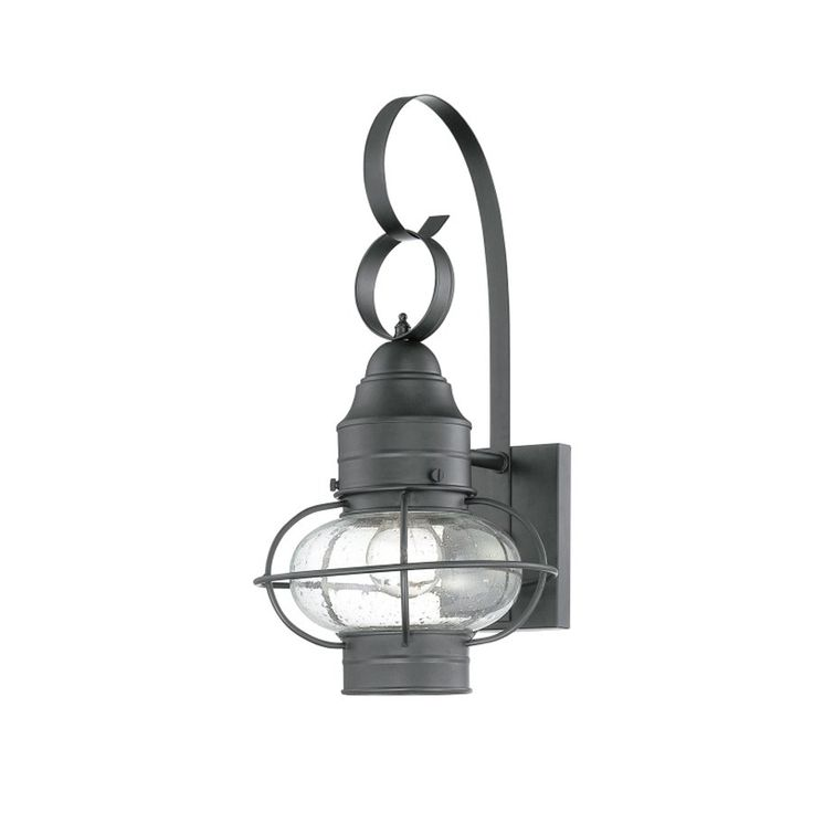 Portfolio Trevett 17 63 In H Charcoal Black Outdoor Wall Light Lowe S Canada