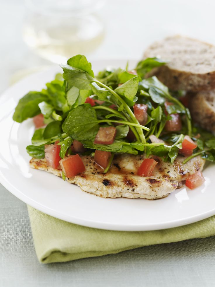 Spoon that salad over a crisp paillard for a dish that'll make even a boneless skinless chicken breast skeptic like me a true believer. get this recipe Chicken Paillards with Schmaltz Bread Salad.