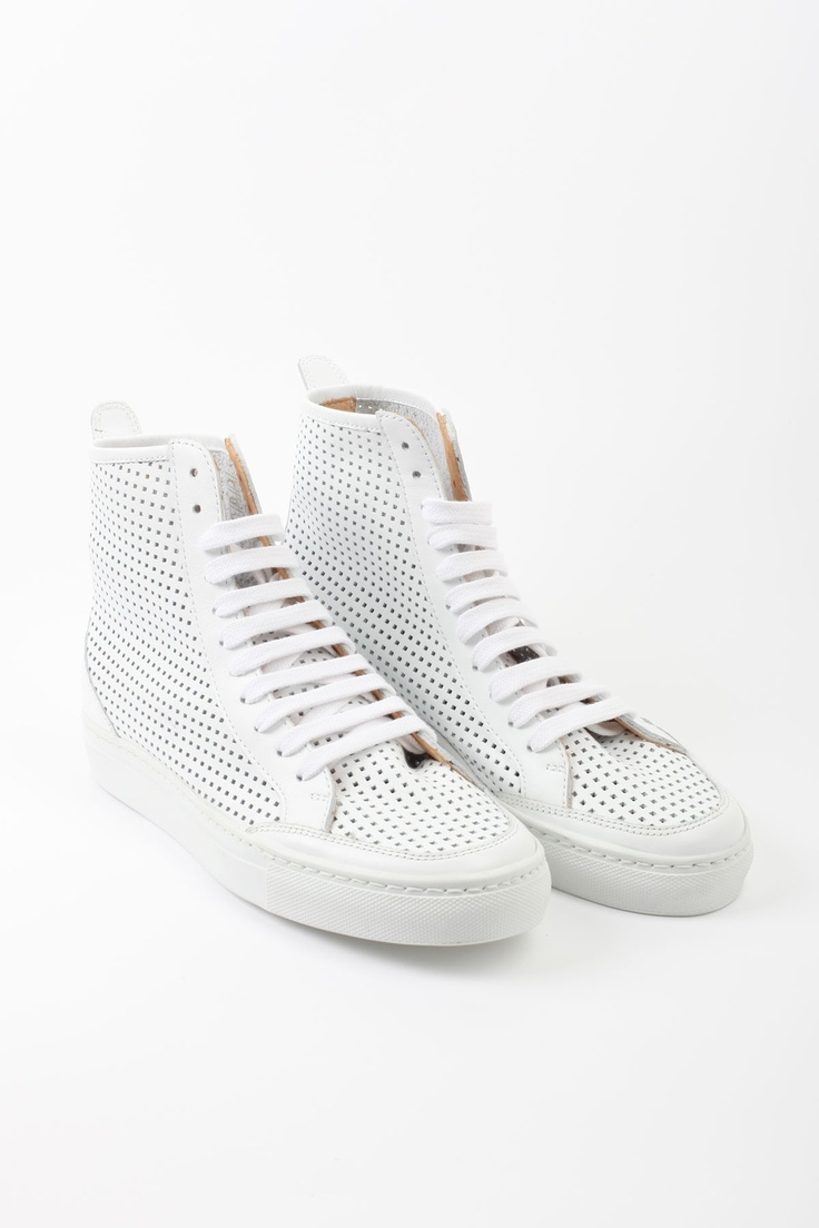 Sneakers, white leather - Sko & Støvler - Dame - WEBSHOP
