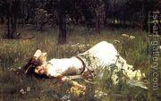 Ophelia 1889  by John William Waterhouse