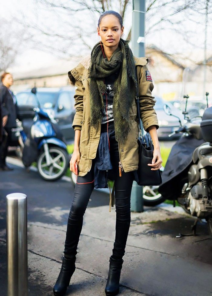15 Different Ways to Style the Military Jacket Trend via @WhoWhatWear: