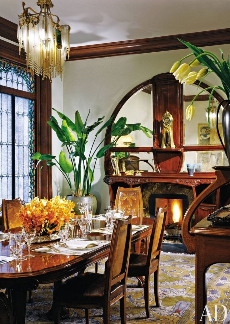 Dining Room By Vladimir Alexandrovich Fabrikov And Alan Wazenberg In New York House BeautifulIn YorkArt NouveauDining Rooms