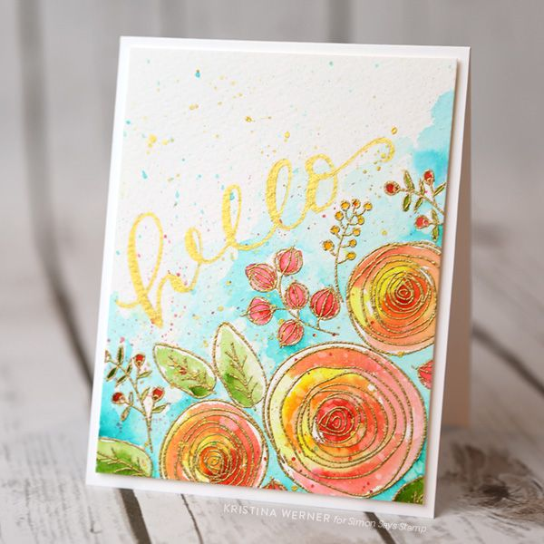 Peerless Watercolor & Gold Brush Lettering | Simon Says Stamp Blog! | Bloglovin'