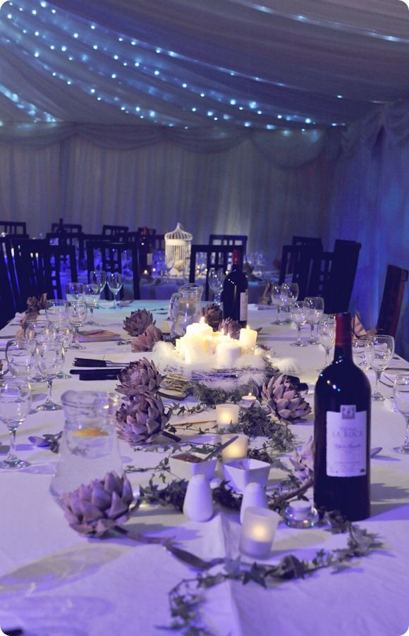 Table decoration - Northern Lights! A Real Wedding In North Yorkshire – Hannah