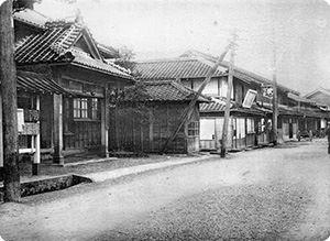 No.22 東海道五十三次之内 藤枝 人馬継立   知足美術館