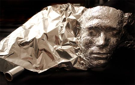 Tinfoil face. Great for winter days when we are stuck in the house.