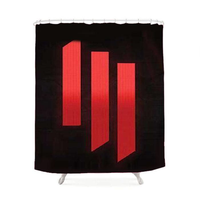 Skrillex Logo Stripes Shower Curtain