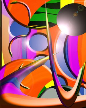 "Abstract Art In Graphic Space Saatchi Online Artist Boi K' Boi; Digital, ""Abstract Art In Graphic Space"" #art"