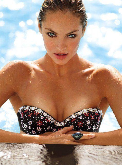Fancy - Embellished Bandeau Bikini Top