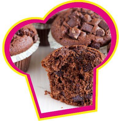 Chocolade muffins van gesmolten chocolade