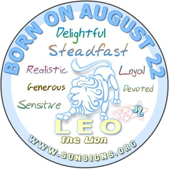 August 22 Birthday Horoscope Personality » Sun Signs
