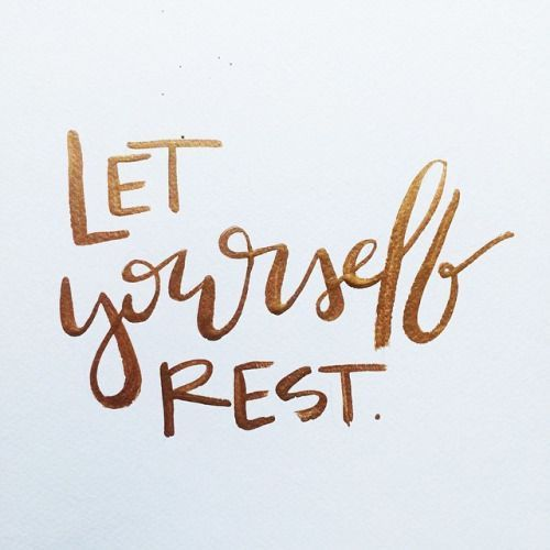 Resting Isn't Lazy, It's Necessary