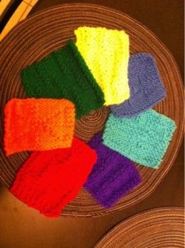 8 Free Knitting Coaster Patterns: Quick! 30 minutes or less!