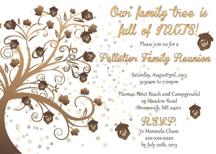 20 Best Family Reunion Invitations Images On Pinterest | Family