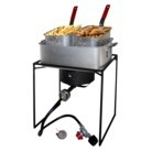 Outdoor Cooker and Fry Pan Set - BUILT INTO OUTDOOR KITCHEN ISLAND