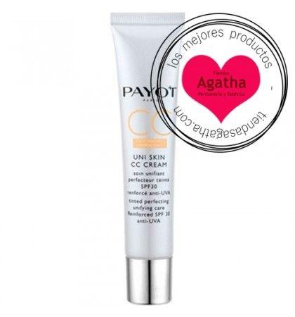 Payot Uni Skin CC Crema SPF 30 40 ml    Payot Uni Skin CC Cream que actúa contra los defectos de la piel como manchas, falta de luminosidad, marcas y rojeces. Corrige el tono de la piel gracias a sus pigmentos encapsulados que a la vez camuflan las imperfecciones.