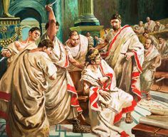 The assassination of Julius Caesar was the result of a conspiracy by many Roman senators who called themselves Liberators. Led by Gaius Cassius Longinus and Marcus Junius Brutus, they stabbed Julius Caesar to death in a location adjacent to the Theatre of Pompey on the Ides of March (March 15), 44 BCE. The ramifications of the assassination led to the Liberators' civil war and, ultimately, to the Principate period of the Roman Empire.