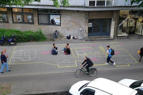 Tape designs by Berlin-based urban intervention collective Stiftung Freizeit (aka Rubén Jódar and Inés Aubert)