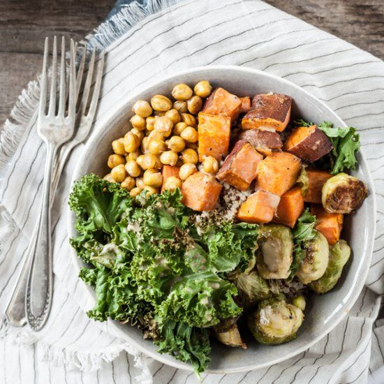These Autumn Nourish Bowls are a healthy and filling vegan meal.