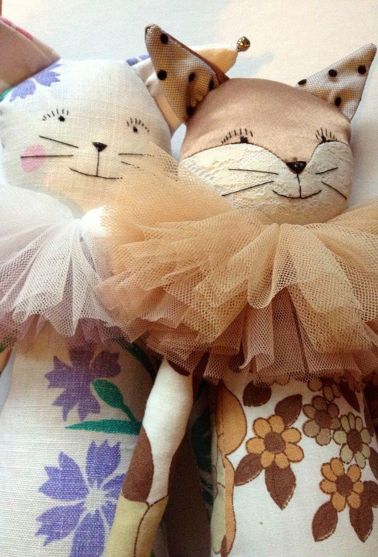 Sam Cat and Sasha Fox by Alice Mary Lynch