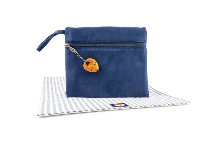 Bax & Bay  Luxury accessories for parents Navy Suede Clutch  www.baxandbay.com www.alegremedia.com #alegremedia