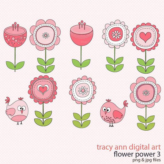 clipart flowers and birds - photo #29
