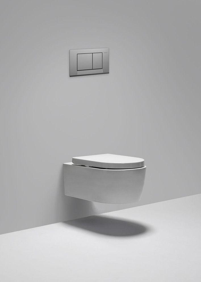 Metrix dual flush wall-mount toilet - contemporary - toilets - vancouver - Blu Bathworks