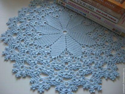 """Текстиль, ковры ручной работы. Ярмарка Мастеров - ручная работа. Купить Салфетка """"Голубые цветы"""". Handmade. Голубой, для дома и интерьера"""