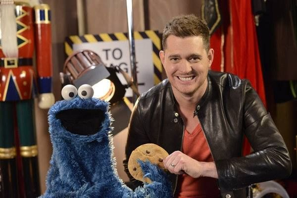 """2 more days until """"Michael Buble's """" 3rd Annual Christmas Special airing in the US on 12/18/13 at 10 pm Cookie Monster is a special guest!"""